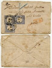 GERMANY 1872 METZ BAHNHOF RAILWAY STATION CLEAR CANCELS + EARLY USE 2g x 3