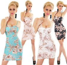 Italy Mini Vestido para Mujer Corto Fiesta Cóctel Verano Tropical Flores 34 36