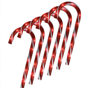 Christmas 48 Pathway Candy Canes Lights Decorations Winter Wonder Lane