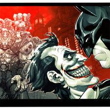 """BATMAN ARKHAM ASYLUM Cover ART PRINT Bane JOKER Carlos D'Anda 19 x 13"""" Comic NEW"""