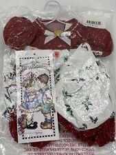 "Vintage Daisy Kingdom-Apron Romper & Hat Fits 12"" Dolls Red Polka Dot Holly Bow"