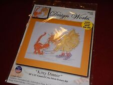 """Design Works 2722 Counted Cross Stitch Kit KITTY DINNER 10"""" x 12"""""""