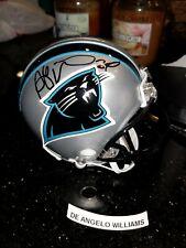 DEANGELO WILLIAMS Signed Autograph Mini Helmet NFL AUTO CAROLINA PANTHERS