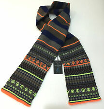 "Paul Smith Écharpe "" Fair Isle "" orange fluo énorme 6FT long fabriqué en Ecosse"