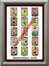 SHEFFIELD UNITED - 1971-72 - REPRO STICKERS A3 POSTER PRINT