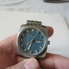 BULOVA MEN'S AUTOMATIC WATCH  23 JEWELS DAY & DATE STAINLESS  STEEL RUNS
