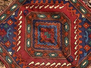Large Crewel Pillow Cover from Nepal #2