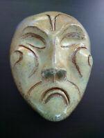 Masque japonisant grande céramique signée Accolay ? à identifier parfait état
