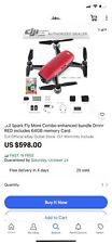 DJI Spark Quadcopter Fly-More-Combo - Lava Red