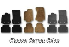 Jaguar Carpeted Floor Mats - Build Your Own Set- Choose Color, Heel Pad & Edging