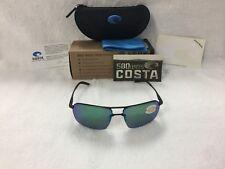 7e9346027e NEW Costa Del Mar Skimmer Polarized Sunglasses Black Green SKM 11 OGMP 580P