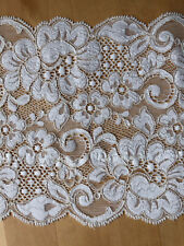 Vintage White Stretch Lace Fabric Trimmings /Crafting/Lingerie -L47
