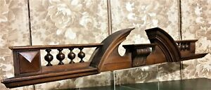 Decorative acanthus leaf carving pediment Antique french architectural salvage