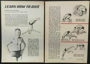 """Learn How To Dive"" by Bob Clotworthy Champion Diver 1961 graphic pictorial"