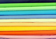 "100% Cotton Fabric pattern  sheeting plain colours 160cmx100cm 64""width"