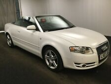 07 AUDI A4 CABRIOLET SPORT 2.0 TDI AUT FABULOUS SPEC,RARE IN WHITE, FULL LEATHER