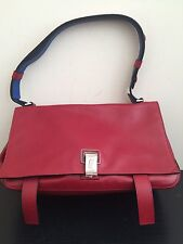 $1475 PROENZA SCHOULER PS Courier Double-Sided Leather Bag Chianti