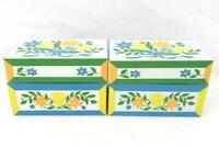 Lot Of Two Syndicate Mfg. Co. Recipe Card Boxes With Cards Dividers Floral