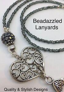 Beaded Lanyard Necklace,ID Pass Holder,Cruise Pass Lanyard, Security Pass, L1