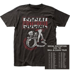 "Social Distortion ""Ball And Chain Tour"" Double Sided Jersey T-Shirt - S - 2X"