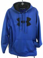 """Under Armour Navy Pullover Hoodie XL Shoulder 18"""" Chest 48"""" Sleeve 27"""" Excellent"""