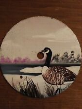 """Hand Painted 7"""" saw blade Goose"""