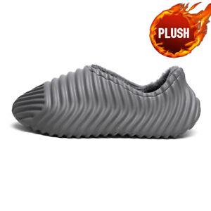 Men's Warm Slippers Plush Slides Autumn Sandals Athletic Outdoor Walking Running