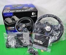 Logitech Nascar Racing Wheel & Pedals Controller For Playstation 2 NIB