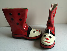 """Bottes """"coccinelle"""" (taille 33)"""