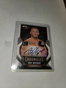 Gray Maynard 2015 Topps UFC Chronicles Autograph card
