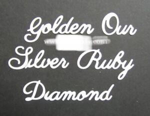 Britannia Dies Golden Our Silver Ruby Diamond Word Set Anniversary Metal Cutting