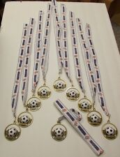 Youth Soccer Award Die Cast Metal Ribbon Lot of 20 Free Shipping!