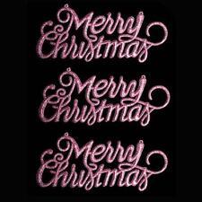"""Decoración de Navidad de 3 Paquete de brillo """"Feliz Navidad"""" signos-Rosa"""