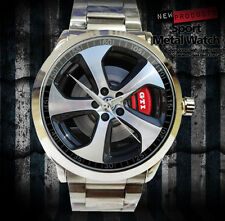 New Reloj Volkswagen GTI Car Logo Accesories Merch WHEEL MENS Sport Metal Watch