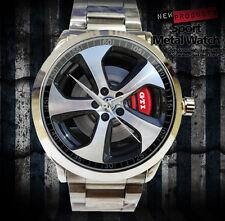 New Reloj Volkswagen GTI Car Logo Accesories Merch WHEEL MENS Sport Metal Watch