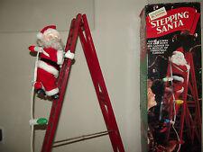 Mr. Christmas Animated & Musical Ladder Climbing Stepping Santa w/ Lights