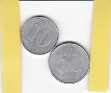 DDR , 10 und 50 Pfennig, PJ 1967 und 1958, Europa
