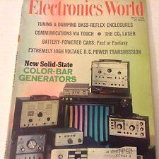Electronics World Magazine Color Bar Generators Tuning May 1968 071917nonrh