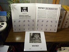 "WHITNEY HOUSTON ""The Greatest Hits"" PRESS KIT w.. INSERTS, & PHOTO NM-"