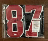 Cameron Brate Autographed signed jersey NCAA Harvard Crimson JSA w/ COA