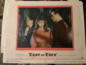 "James Dean ""East of Eden"" movie original Lobby Cards 1955 set of 2"