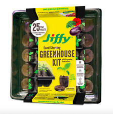 Jiffy Peat Pellets 42mm Seed Starting Greenhouse Kit