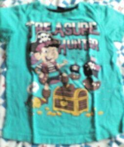 Schickes  Tshirt  für coole Jungs  Gr. 110  blaugrün