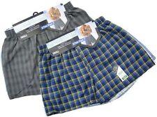 """Men's Classic Woven Poly Cotton Check Print Boxer Short """"xxxx-large"""" 3pp L Assorted Colours"""
