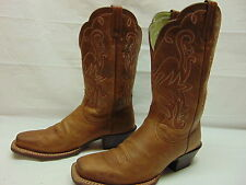 Ariat Women's 7 C Heritage Brown Leather Square Toe Cowgirl Riding Work Boots
