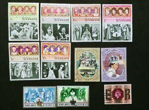 World stamps - Queen Elizabeth II Silver Jubilee 11 var.