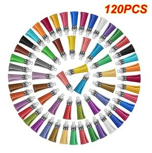 120Pcs Keychain Tassels Acrylic Key Ring Blanks Key Chain Rings Bulk DIY
