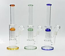 Hookah Water Pipe Bong Glass 12 inch clear glass with tree perk