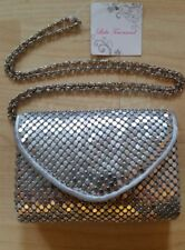 Ladies Metallic Silver Designer Style Envelope Clutch Bag Purse Evening Handbag