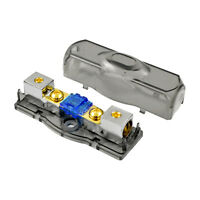 The Wires Zone Mini ANL Fuse Holder 4 6 or 8 Gauge Nickel Plated and 60 Amp Fuse